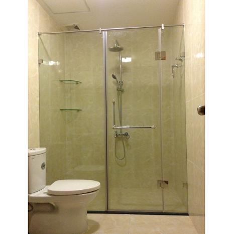 Phòng kính tắm cửa lùa 10 x 30 ở Vinh