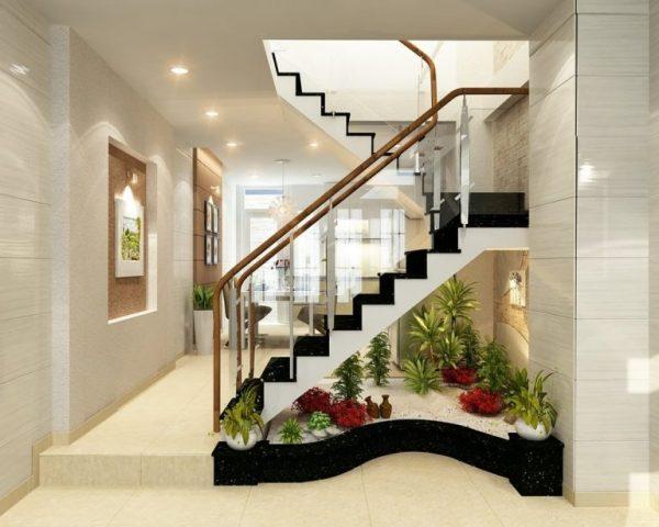 cầu thang kính đẹp ở vinh