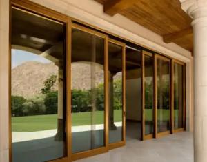 cửa kính cường lực khung gỗ tại vinh