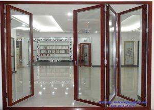 cửa gỗ kính cường lực nghệ an